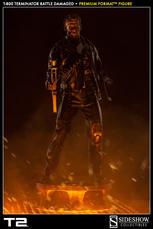 T:800 Terminator Battle Damaged Premium Format - Sideshow Collectibles