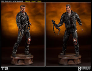 T:800 Terminator Battle Damaged Premium Format - Sideshow Collectibles