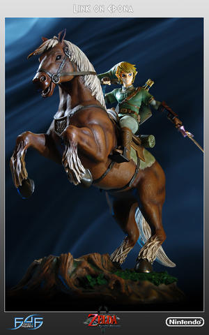 The Legend of Zelda - Twilight Princess: Link on Epona Statue